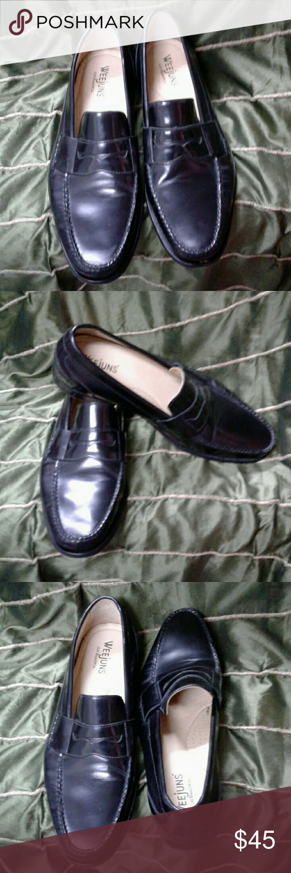 """G.H. BASS WEEJUN """"EDWARD"""" BLACK PENNY LOAFERS CLASSIC ..."""