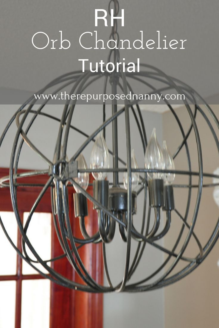 orb light fixture. Restoration Hardware Copycat Orb Chandelier Tutorial Light | DIY Fixture L