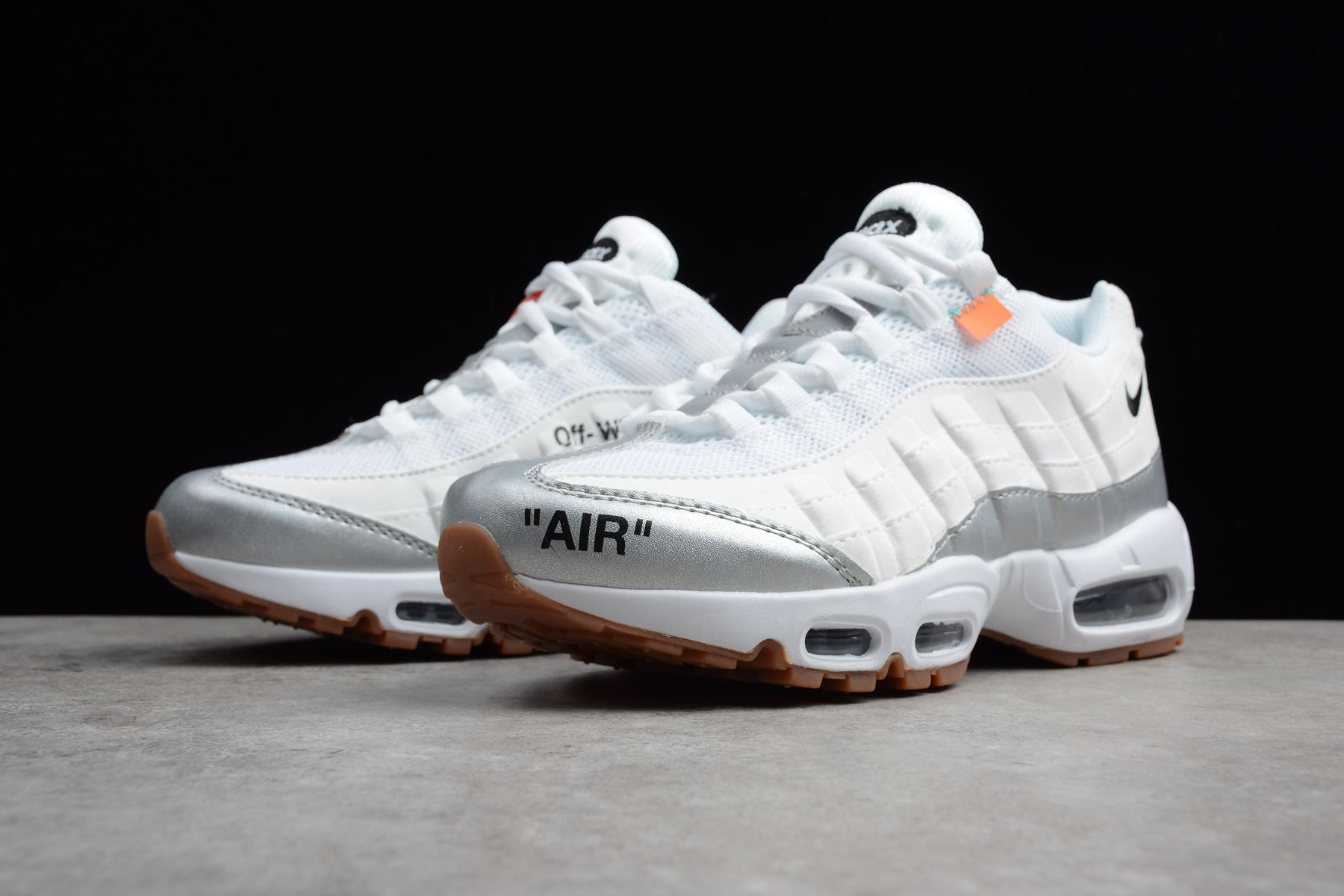 cheaper 67f78 74e90 Off-White x Nike Air Max 95 White Silver Mens Size 609048-159
