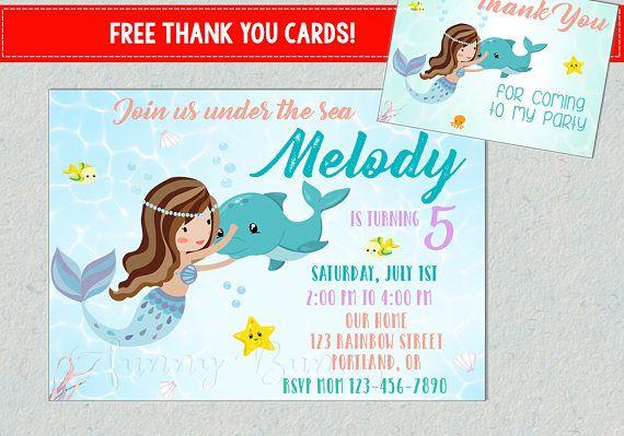 Dolphin Invitation Mermaid And Dolphin Birthday Invitation Mermaid