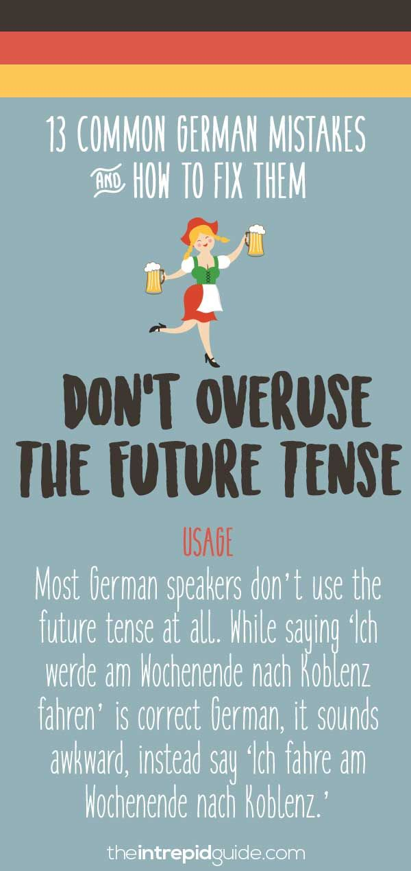 Common German grammar mistakes - Future tense