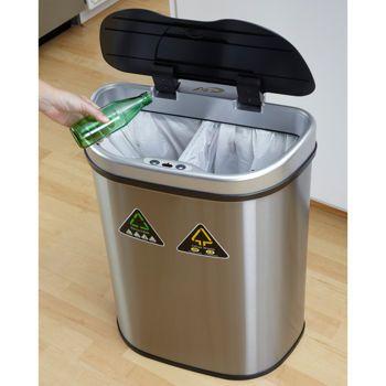 69 99 Costco Nine Stars Duel Compartment 18 5 Gallon Stainless Rh Pinterest Com Motion Sensor Trash Can 21 Bags