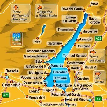 Riva Del Garda Cartina Cerca Con Google Italy Lago Di