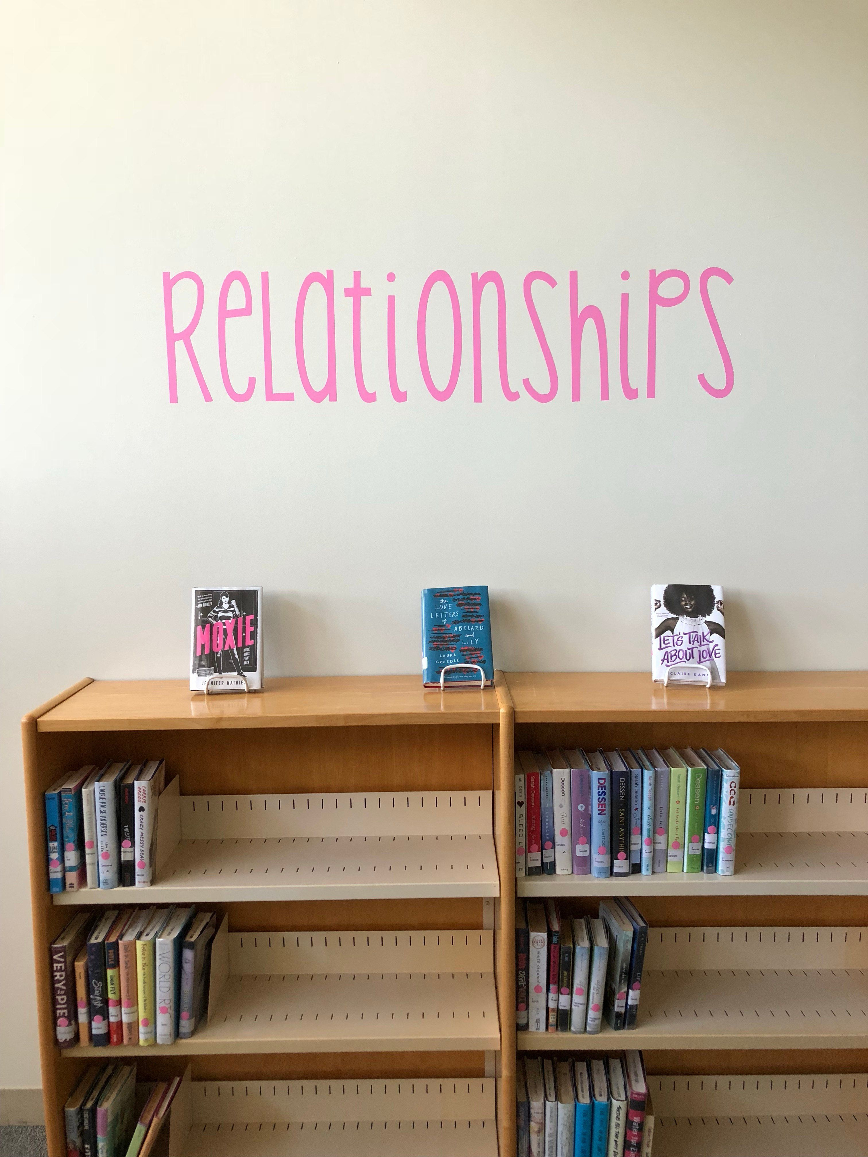 Library Vinyl Decal Lettering Sticker Wall-Safe Book