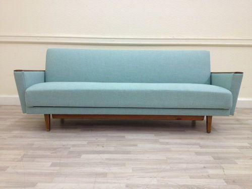 Mid Century Original 1950s Sprung Day Bed Sofa Vintage Retro 60s 70s Danish Ebay