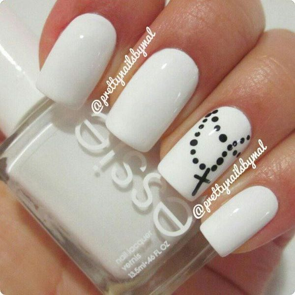 80+ Black And White Nail Designs - 80+ Black And White Nail Designs Cross Nail Designs, Cross Nails