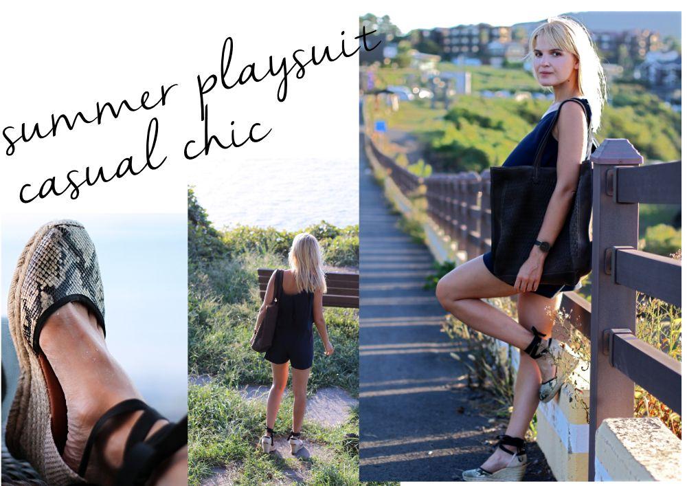 Kombinezon Na Lato Jak Nosic 4 Stylizacje 2 Casual Casual Chic Chic Summer Playsuit Casual Chic Playsuit