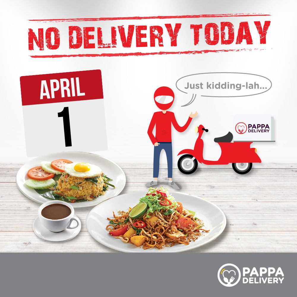 Gotcha Don T Worry Pappa Boy Is Working As Usual Today To Deliver You Great Foods From Papparich Key In Halal Recipes Healthy Food Delivery Great Recipes