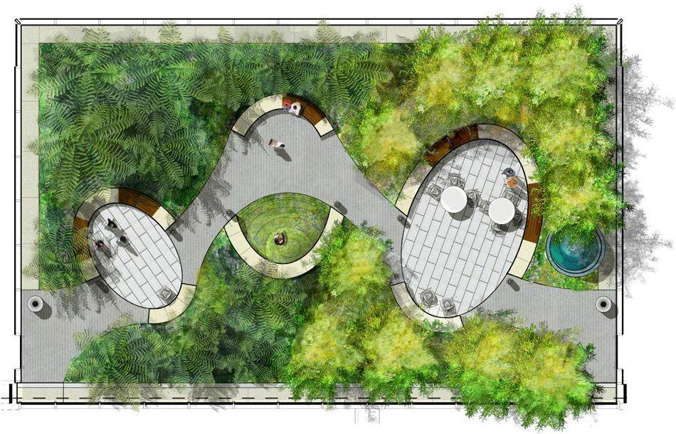Kaiser Special Medical Office Courtyard Landscape Architecture Design Landscape Plans Landscape Design Drawings
