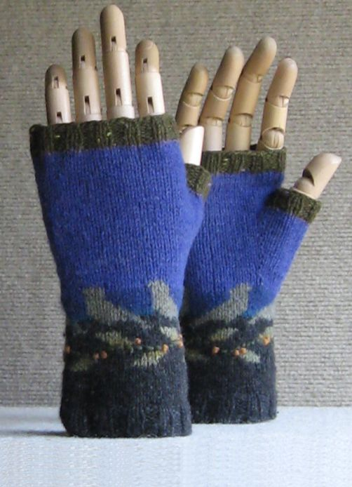 Night Birds Sunday knits pattern for fingerless gloves | ВЯЗАНИЕ ...