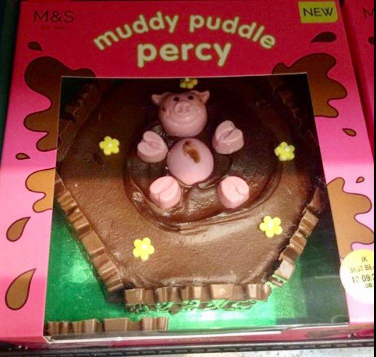 M S Percy Pig Cake