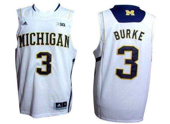 c1d882615a15 Michigan Wolverines Jersey - 3 Trey Burke College Basketall Jersey ...