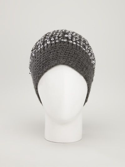 MADELEINE THOMPSON - Sequin beanie hat 7