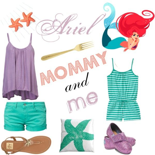 Disney- Ariel Mommy and Me outfit - Teehee Cute Disney Outfit Baby/Kids Clothes Pinterest