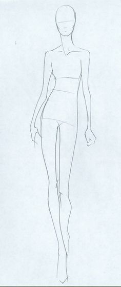 Finished Basic Croquis 1 Of 5 Fashion Model Sketch Fashion Illustration Template Fashion Design Sketches