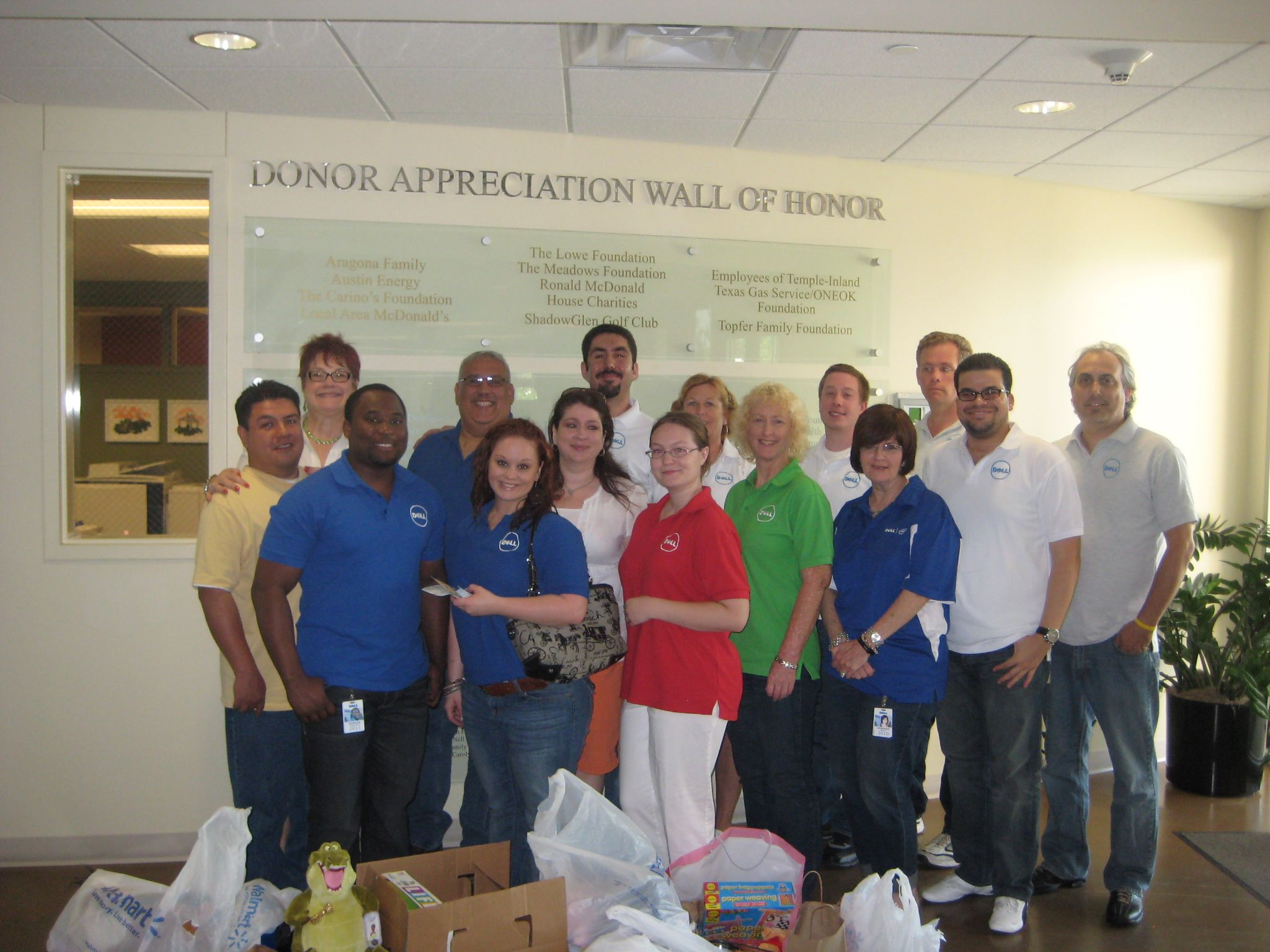 This Dell volunteer group brought items from out Wish List.