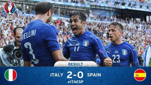 An outstanding display from Nazionale Italiana sends them into the quarter-finals! 👏👏👏 ‪UEFA EURO 2016, June 2016