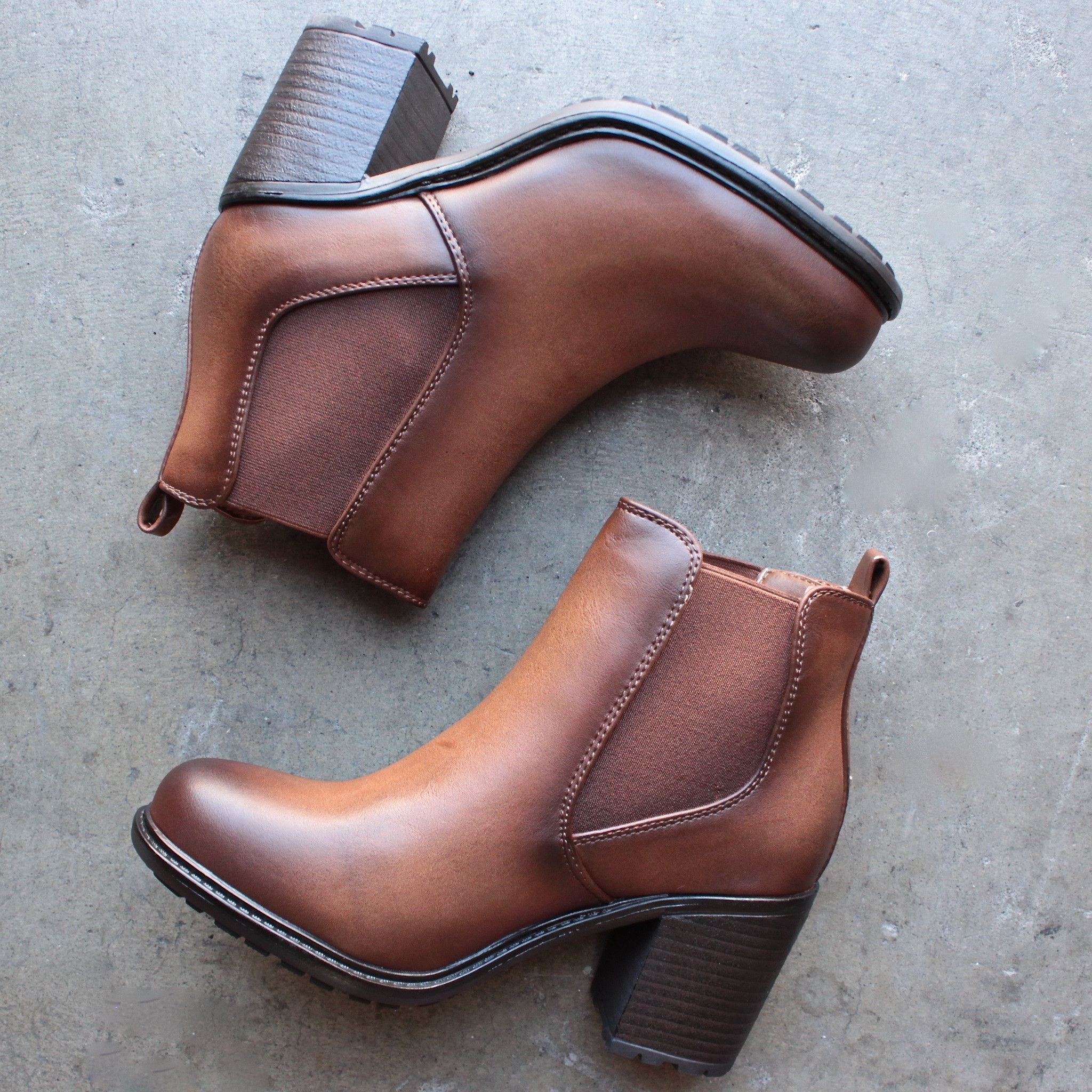 03636393a2ae two tone brown chelsea boots – shop hearts Tan Ankle Boots, Brown Leather Ankle  Boots