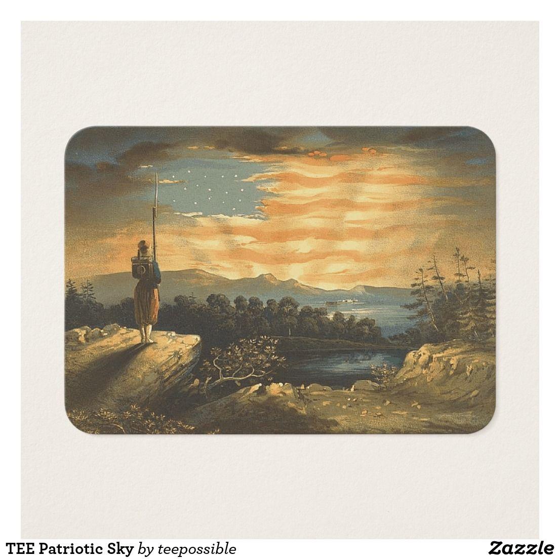 TEE Patriotic Sky Business Card | Teepossible | Pinterest