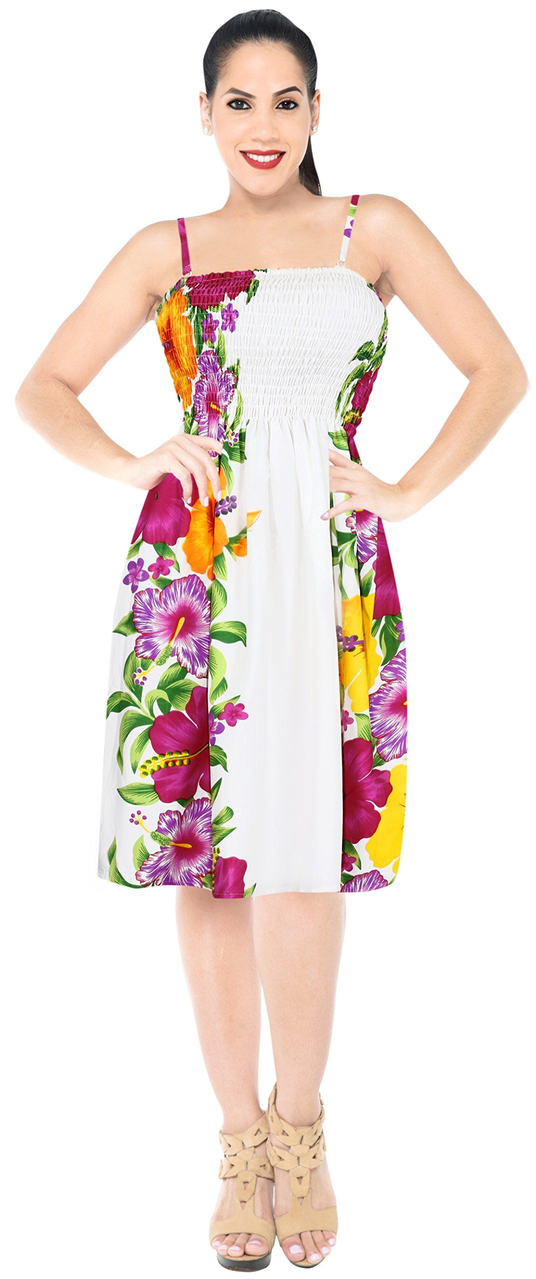 4ad95decb30a Maternity Outfits - casual maternity maxi dress   La Leela Womens Beach  Short Tube Dress Elasticated Hibiscus Orange Pink White     Read more at  the picture ...
