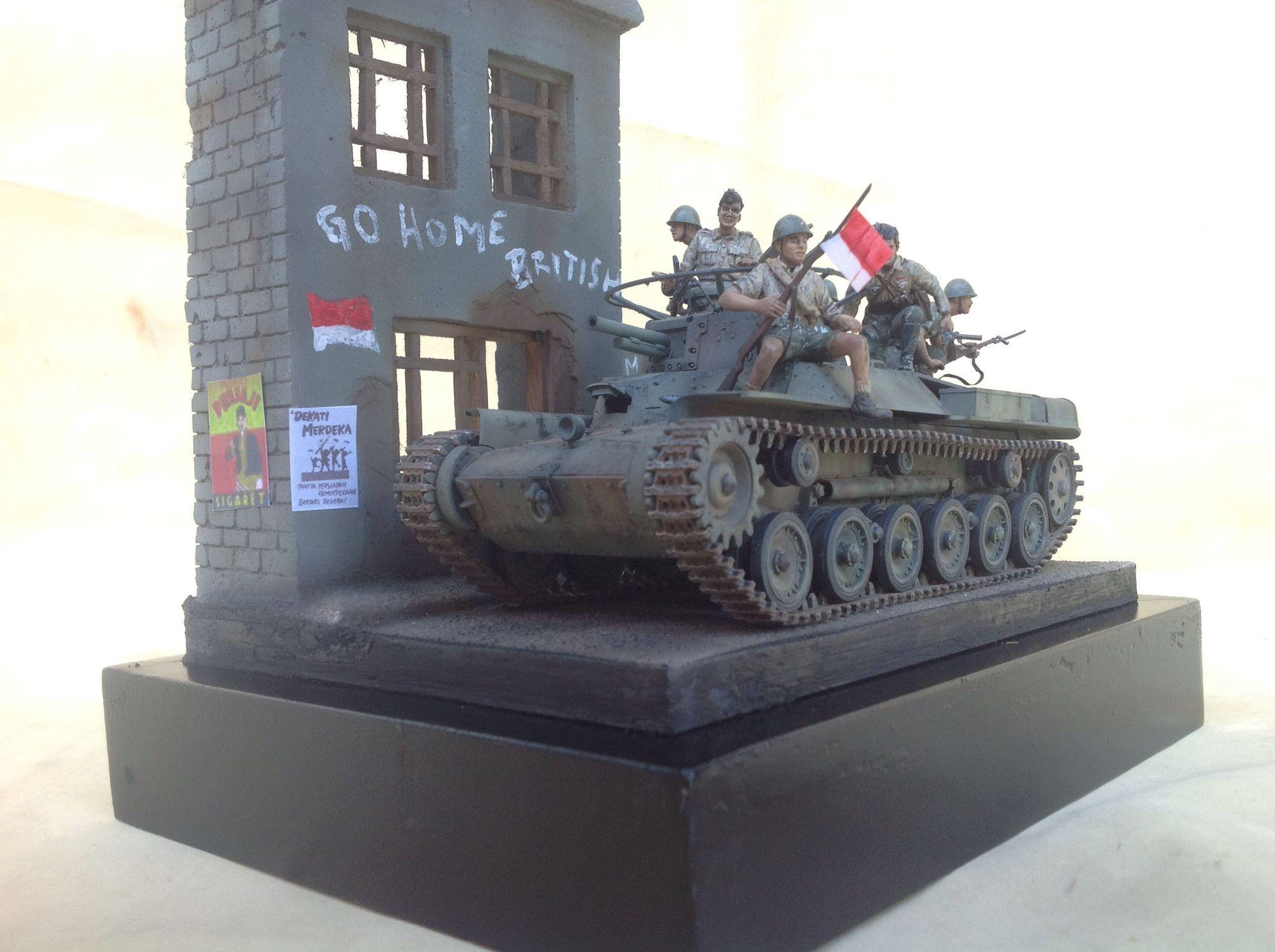 1/35 scale Indonesia TKR/BKR w/ Chi Ha japanese tank