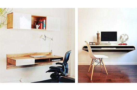 Escritorios de pared la soluci n a los espacios peque os for Diseno de interiores para espacios pequenos
