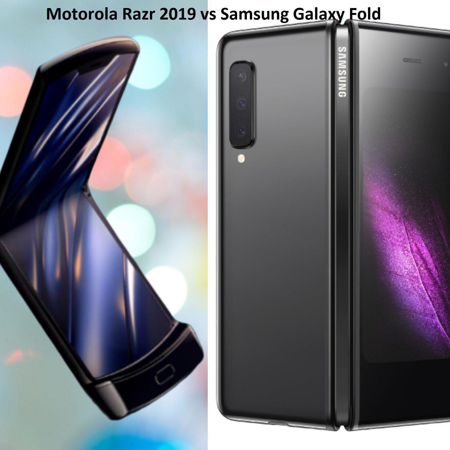 Motorola Razr 2019 Vs Samsung Galaxy Fold Samsung Galaxy Motorola Razr Samsung Galaxy Wallpaper