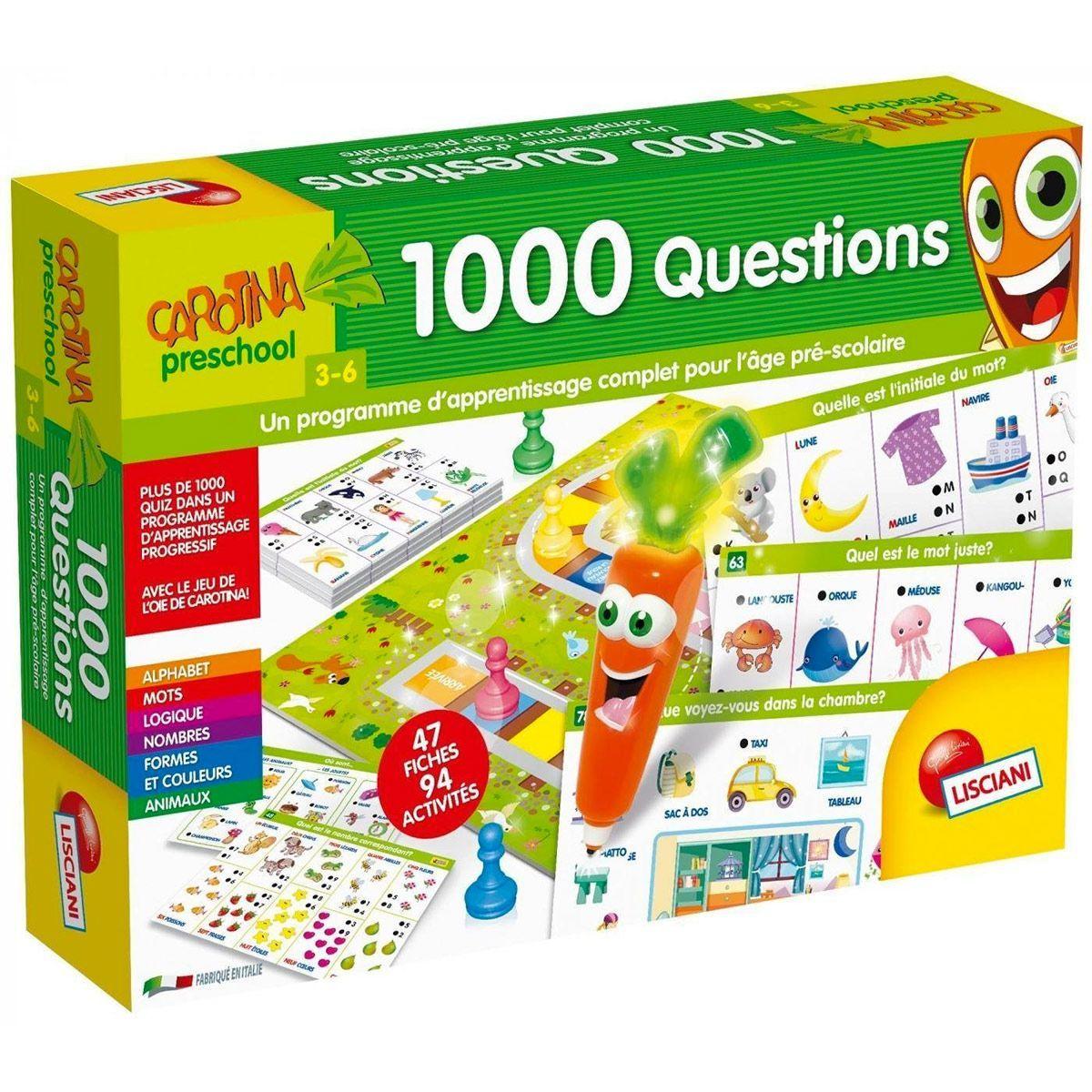 Jeu Educatif 1000 Questions Jeux D 039 Apprentissage La Destine Jeux Educatif 3 Ans
