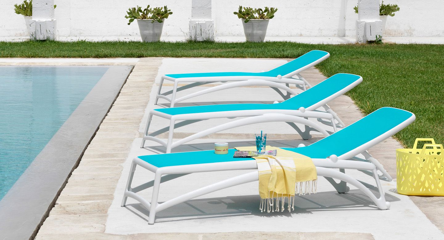 Nardi Omega Sun Loungers In Tortora With Rodi Side Table | Sunlounges |  Pinterest