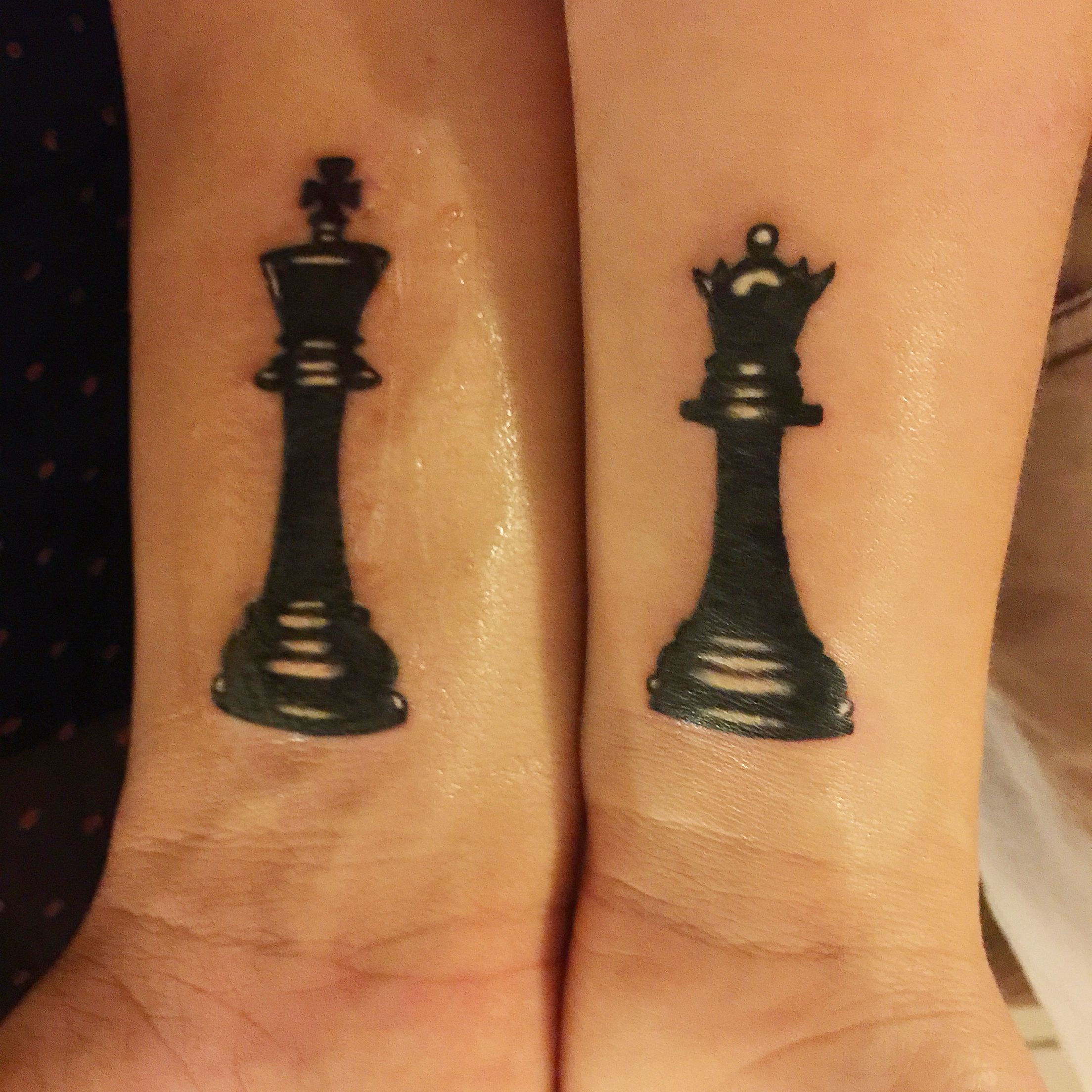 Chess Piece Tattoo Matching Tattoo Queen And King My Style