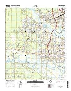 Johns Island Sc Topo Map 1 24000 Scale 7 5 X 7 5 Minute Current