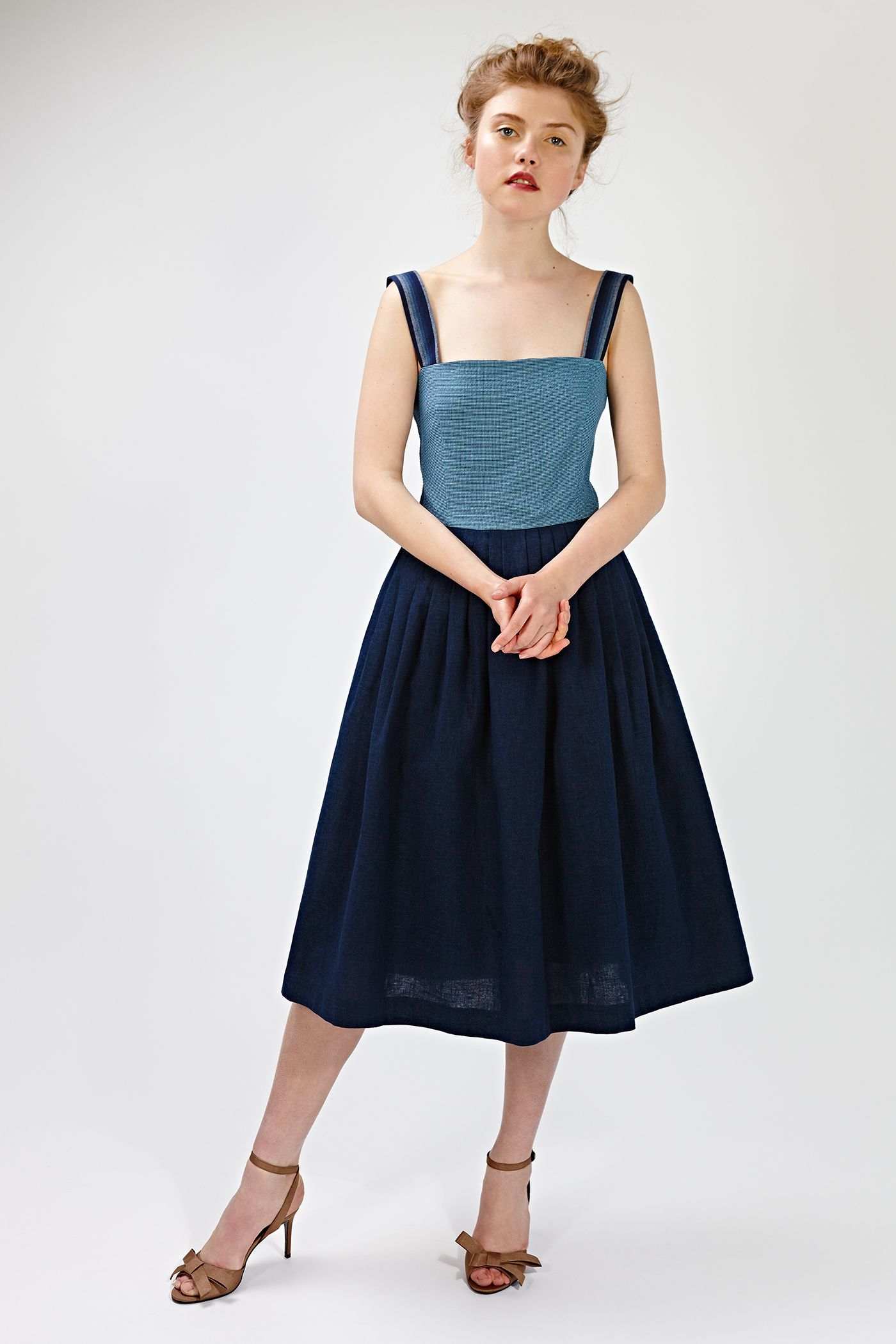 Office Vintage Tea Length Dress