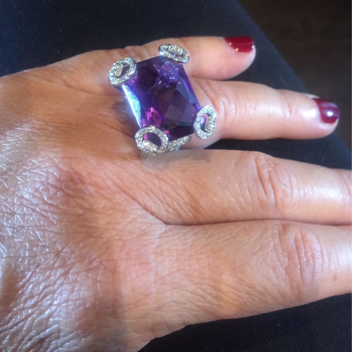 GUCCI Purple White gold Ring | amethyst | Pinterest | Gold rings ...