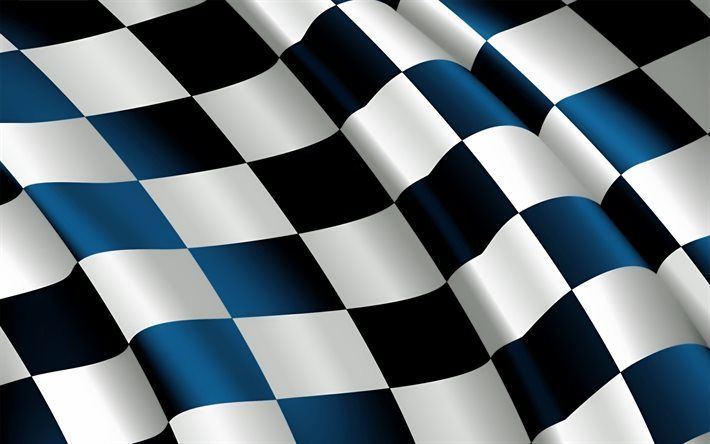 Download wallpapers checkered flag, 4k, finish line flag, silk