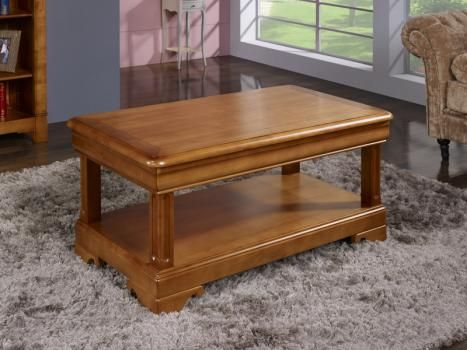 table basse gabriel réalisée en merisier de style louis philippe 2