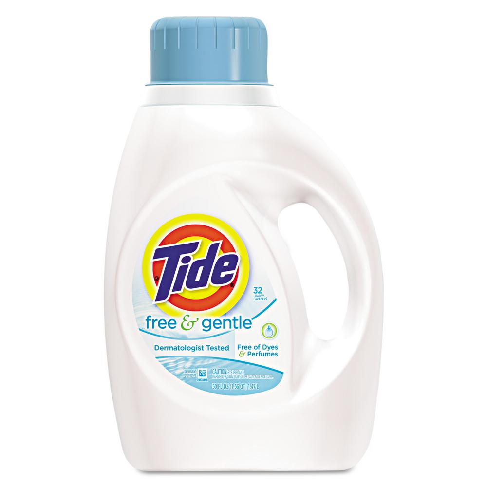 Tide 50 Oz Free And Gentle Laundry Detergent Bottle Case Of 6
