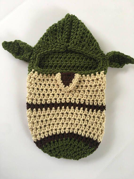 Crochet Pattern Yoda Newborn Swaddle Cocoon Photo Prop | Tutús ...