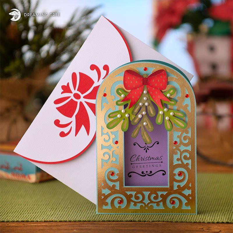 Mistletoe Christmas Card SVG Christmas cards, Christmas
