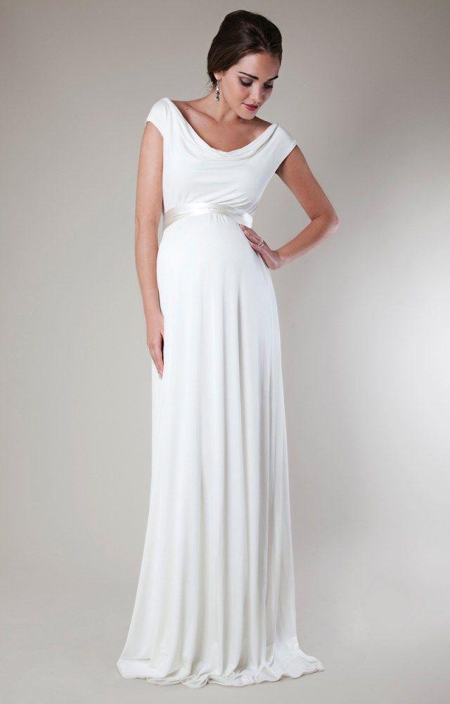 e699c59abf59455 Длинное вечернее платье для беременных женщин – фото новинки сезона