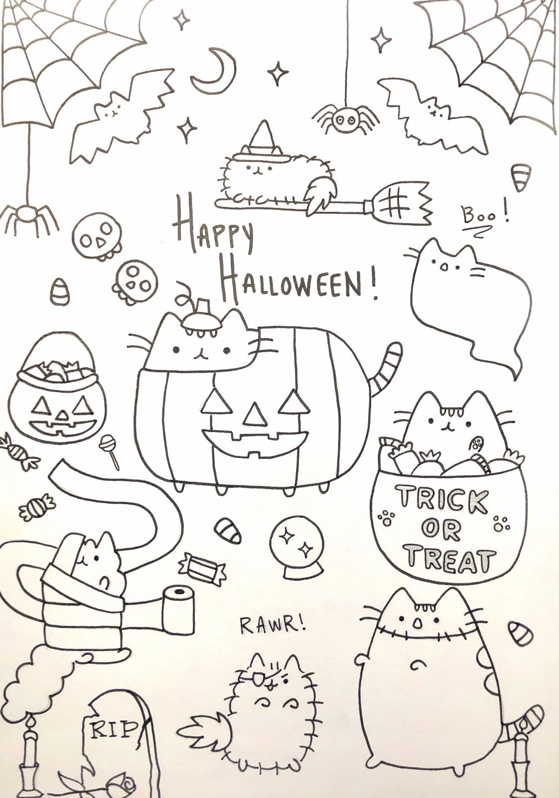 Halloween Sheens Coloring Page Coloring Pages Halloween Coloring Pages Coloring Books