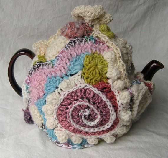 Tea Cozy in Freeform Crochet \'Sweet Shop\' by 2SistersStringworks ...