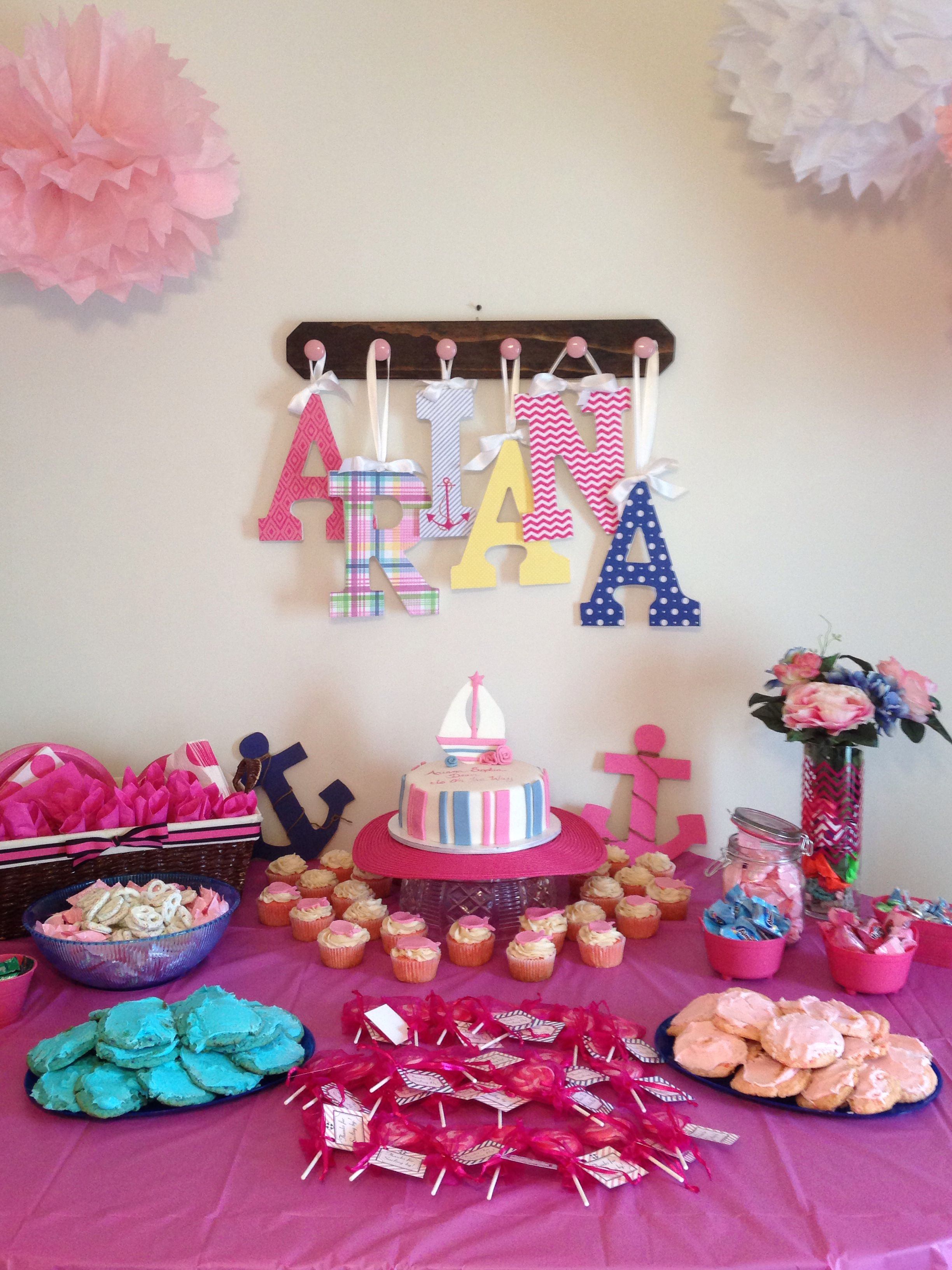Nautical girl baby shower theme Arts & crafts Pinterest