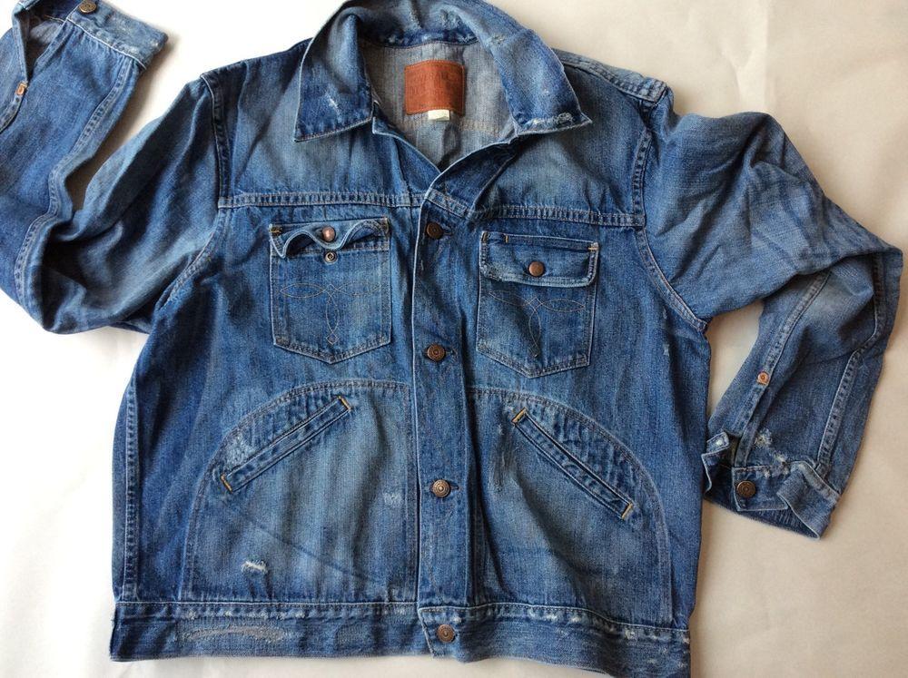 RRL Ralph Lauren Roper Denim Jacket XL Wilmington Wash Double RL ...