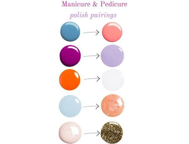 A Mani Pedi Chart For Unusual And Awesome Colour