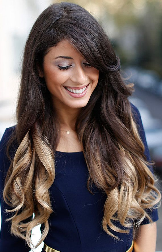 Darkest brown to blonde ombre human hair extensions22 inch clip hair darkest brown to blonde ombre human hair extensions22 inch clip in pmusecretfo Choice Image