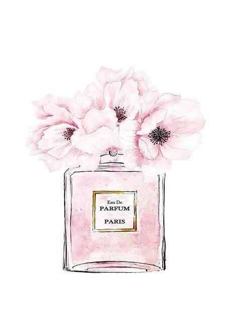 Photo of Scandinavian Wall Art Pink Flower Perfume Fashion Poster Eyelash Lip Makeup Print Canvas Painting Picture Modern Home Decoration – 50x70cm no frame / C