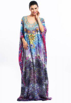 1b1e802be85 Nir Raamyaa Box kaftan with print | Kaftans and Tunics | Womens ...