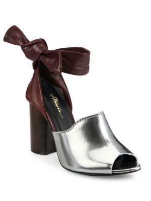 3.1 Phillip Lim Metallic Ankle Strap Sandals reliable good selling online enjoy for sale visit sale online cheap sale deals uInhr0N8ns