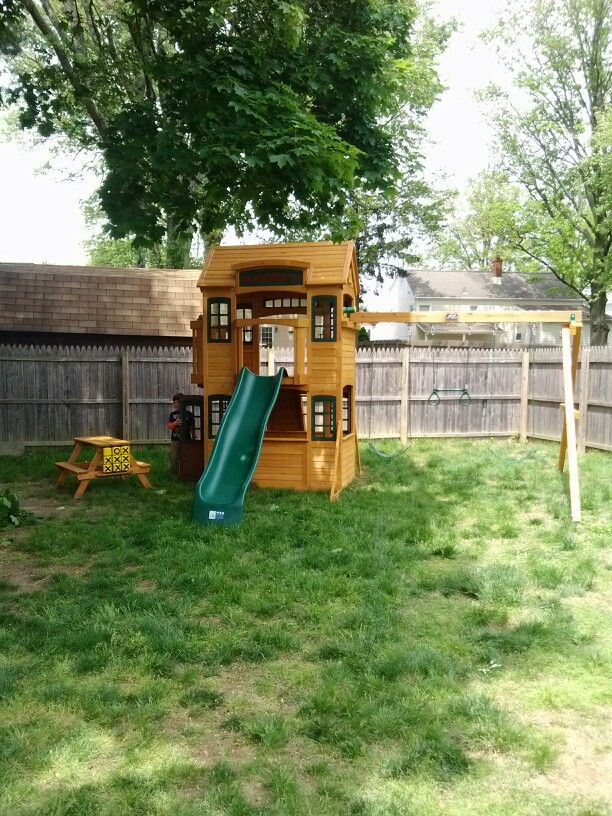 Cedar Summit Cedarview Resort Playset From Costco Installed In
