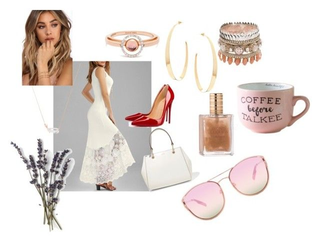 """Summer in the city"" by anne-lise-knoph on Polyvore featuring DKNY, Lana, Christian Louboutin, Marie Mas, Kendra Scott, Quay and beautifulhalo"